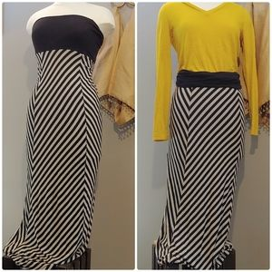 Strapless Dress OR Long Maxi Skirt, 2 looks in 1!